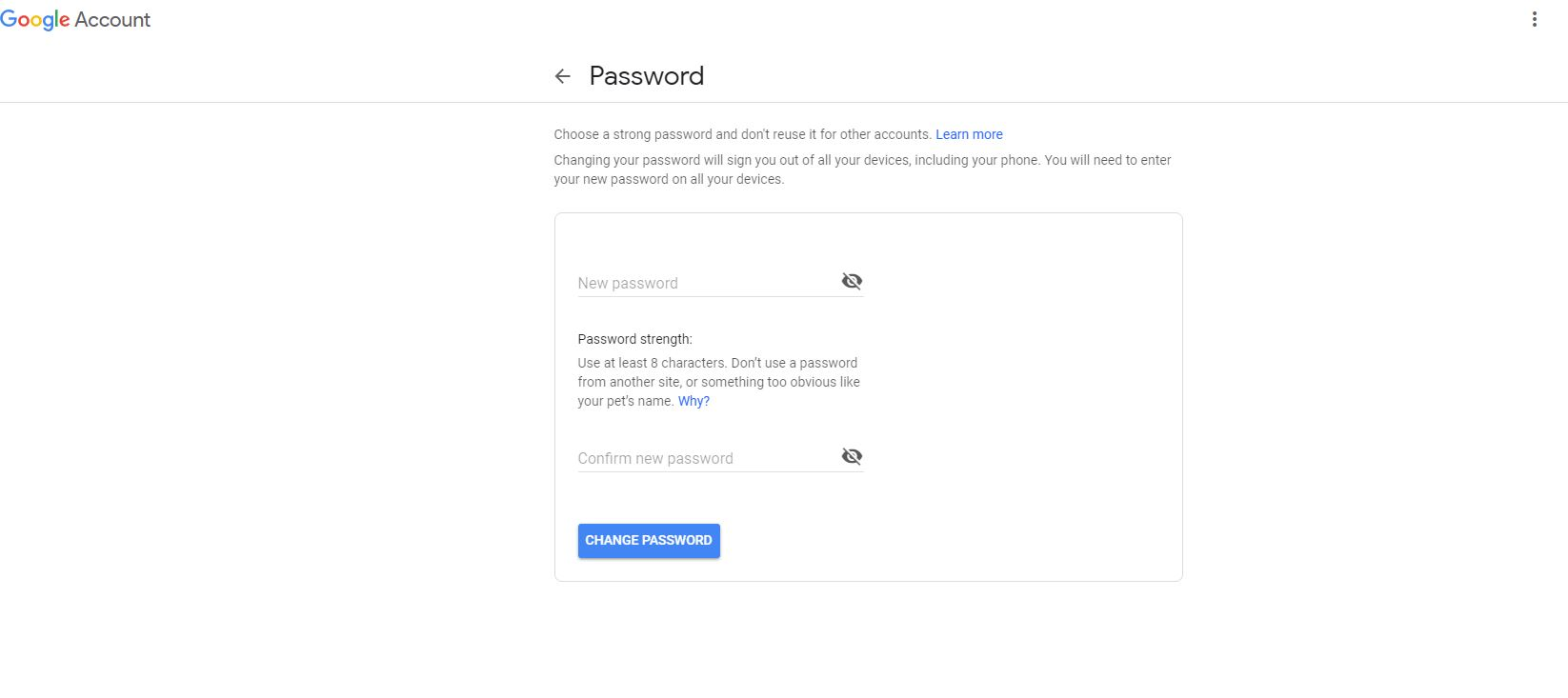 ganti password gmail mudah