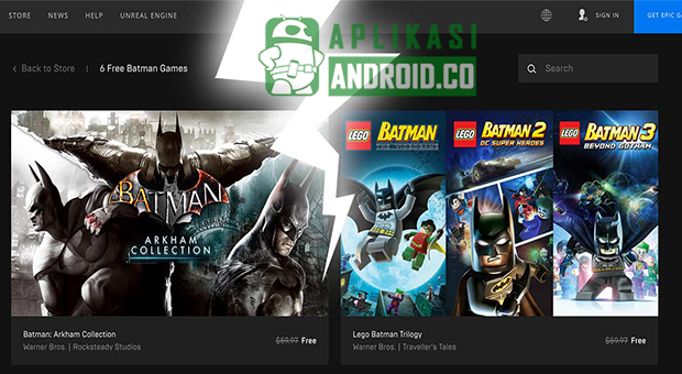 6 Game Batman Gratis di Epic Launcher